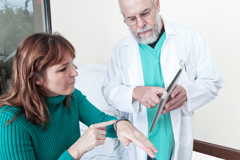 Patient wearable doc tablet