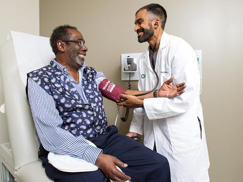 Oak Street Health patient and doctor