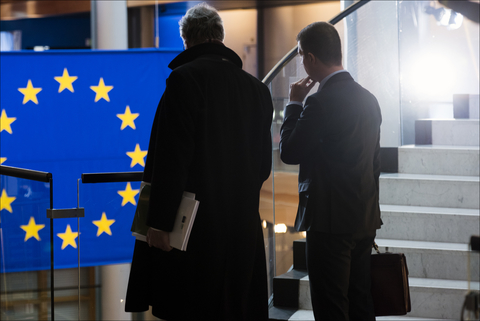 EU flag depature