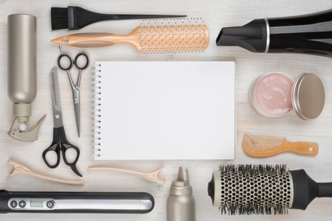Hairdressing Tools on Table