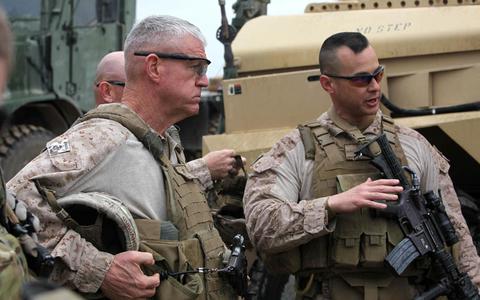 U.S. Marine Maj. Gen. Charles M. Gurganus, Regional Command South West Commanding