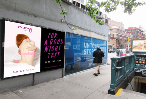 Moxy unveils 'For a Good Night Text' wheatpaste campaign