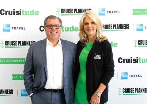 Michelle Fee Frank Del Rio Cruise Planners Luxury Forum Editorial Use Only Photo Courtesy of Cruise Planners