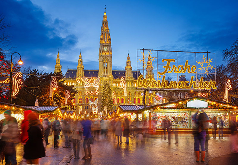 A Christmas Market in Vienna