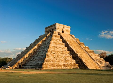 a Mayan temple in Chichen Itza, Mexico