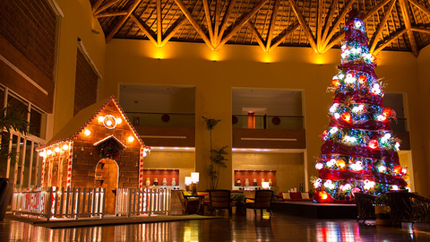 Grand Velas Christmas tree