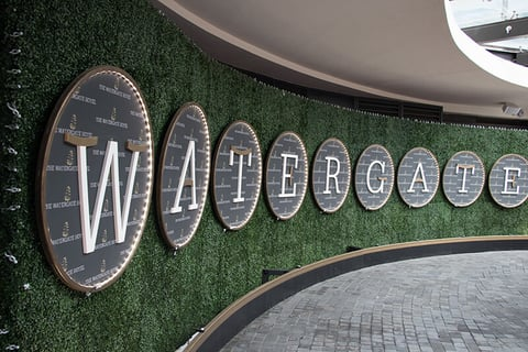 The Watergate Hotel main entrance sign