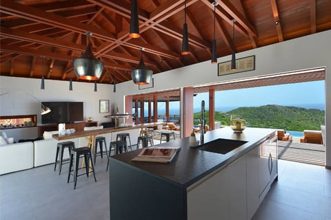 Interior/Exterior view of the Villa Danse du Soleil in St. Barth