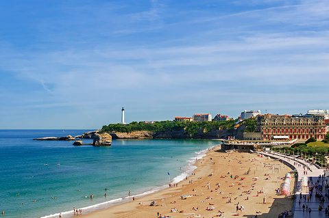 Hotel du Palais on the beach in Biarritz, France
