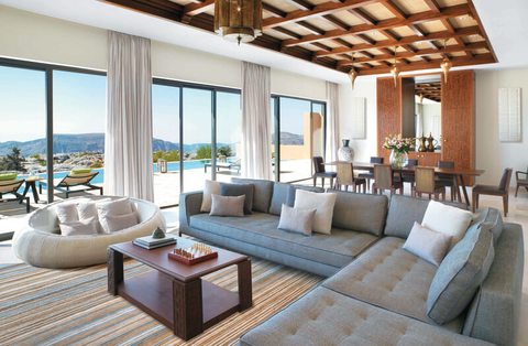 Anantara Al Jabal Al Akhdar's Three Bedroom Royal Mountain Villa is a two-story complex sprawling over more than 7,500 square feet.