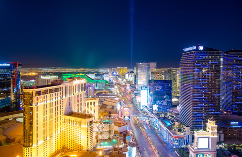 Las Vegas skyline facing south