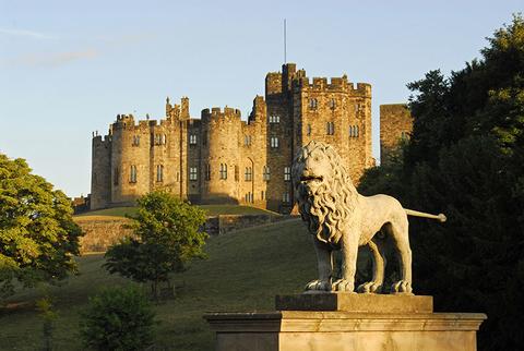 Alnwick Castle and the Lions Bridge