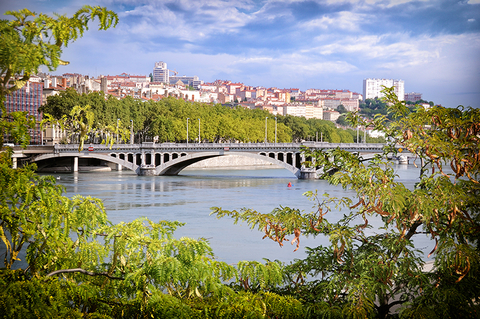 Rhone River, Lyon, France - Davizro/iStock/Getty Images Plus/Getty Images