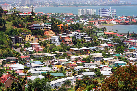 Aerial view of Port of Spain in Trinidad and Tobago