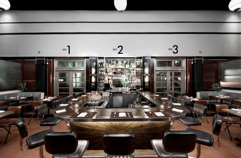 Horseshoe shaped bar at The Grey