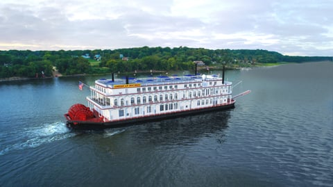 american queen steamboat company christens new ship