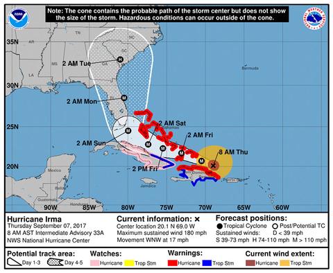Hurricane Irma To Hit Dominican Republic Florida Impact Likelier