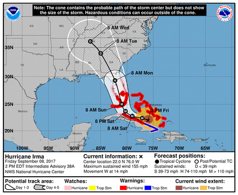 Hurricane Irma Mapped The Science Behind Why This Storm S Path Is