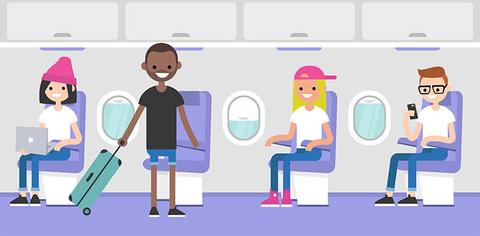 millennials airplane graphic