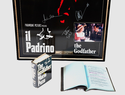 """A signed Italian """"The Godfather"""" is one of many items on display at the Mob Museum."""