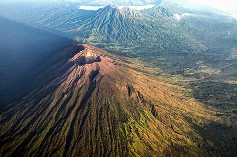 Mount Agung volcano in Bali