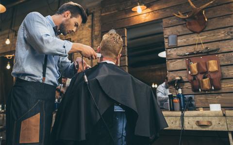 Barbering stock photo