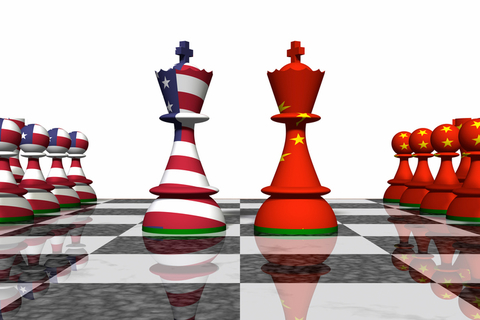 US China on chess board