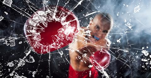 Boxer Breaks Glass