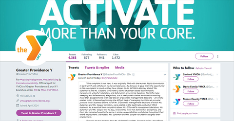 Greater Providence YMCA Twitter