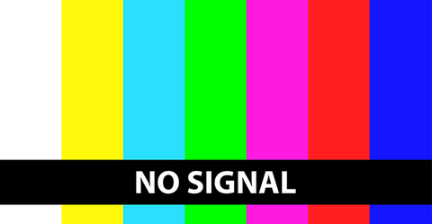 TV with no signal