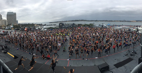 BodyCombat class on USS Midway