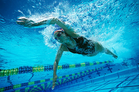 Where did swimming for fitness land on the list Photo by Thinkstock