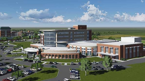 Thibodaux Regional Medical Center39s 73 million wellness center when completed in early 2016 will be open to patients members of the community and hospital staff in an effort to lower the obesity rate in the community Image courtesy of Thibodaux Regional Medical Center