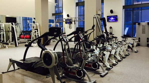 Town Sports International39s second BFX Studio includes floortoceiling windows historical architectural details and this private session training floor among other features in the Financial District of New York City Photo courtesy of Town Sports International