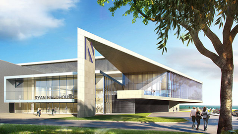 Northwestern University is planning to build the Lakefront Athletic and Recreational Complex on its Evanston IL campus Rendering courtesy of Northwestern University