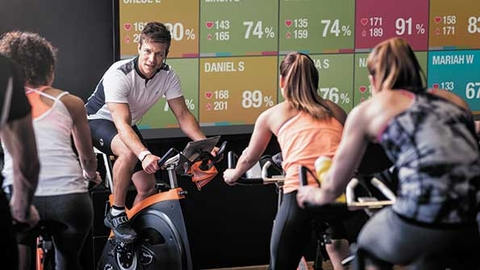 Capturing workout information during a group exercise class motivates members to exercise in their ideal heart rate zone and get the most out of each workout Photo courtesy of Polar Electro