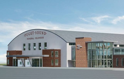 The University of Puget Sound39s Athletics and Aquatics Center will complement the existing Memorial Fieldhouse Photo courtesy of University of Puget Sound