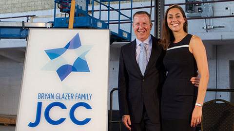 Bryan Glazer and his wife Shanna Glazer attended the groundbreaking ceremony for the new Jewish Community Center in West Tampa Florida this week The Glazers donated 4 million for the project which JCC officials expect to run 26 million Photo courtesy Tampa JCC