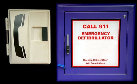 The suit cites a 2007 California law requiring the state39s health clubs to have an AED available and maintained and to have personnel trained in its use Photo by Thinkstock