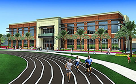 A rendering of the new fitness center that is in the works at the University of Tampa Image courtesy of the University of Tampa