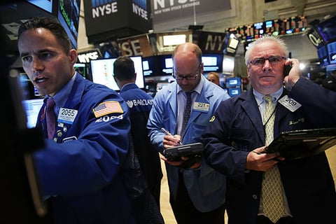 Traders work on the floor of the New York Stock Exchange NYSE on August 24 2015 in New York City As the global economy continues to react from events in China markets dropped significantly around the world on Monday Photo by Spencer PlattGetty Images