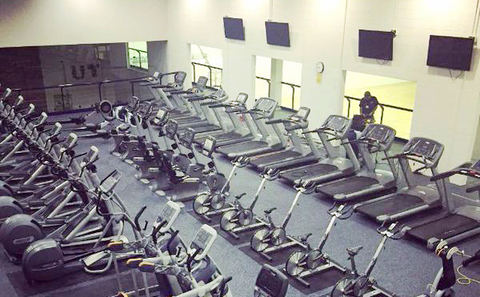 Rubberized flooring was installed in the cardio room at the University of Toledo39s recreation center University of Toledo