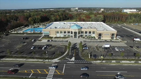 An exterior view of Life Time Athletic Mount Laurel Photo courtesy Life Time Fitness
