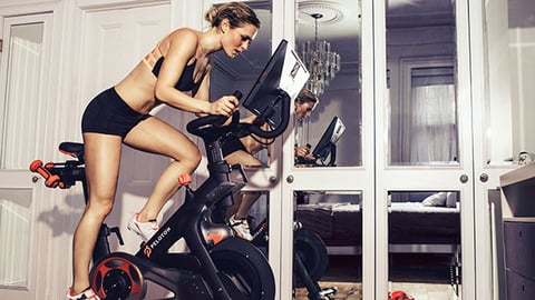 Peloton bills itself as the only fitness bike to fully integrate a home workout machine with live group cycling classes Photo courtesy Peloton