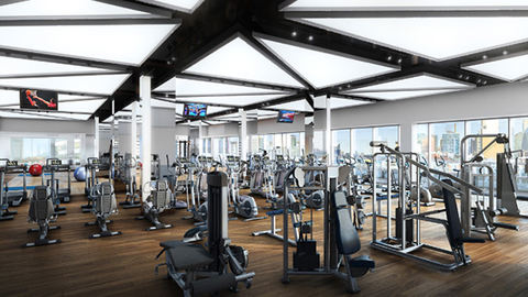 The new Life Time Athletic Club at Sky is the first New York City location for the brand Rendering courtesy Life Time Fitness
