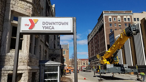 The renovation project at the Green Bay Downtown YMCA location is expected to be completed between April 2017 and October 2017 Photo courtesy Green Bay Downtown YMCA