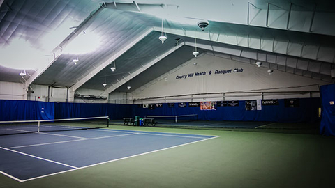Indoor tennis courts at Cherry Hill Health and Racquet Club Photo courtesy Cherry Hill Health and Racquet Club