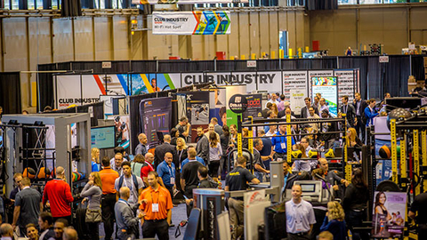 The exhibit hall at the 2015 Club Industry Show in Chicago Photo by Club Industry