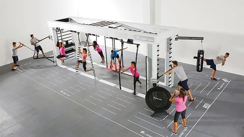 Precor39s Queenax functional fitness training system Photo by Precor