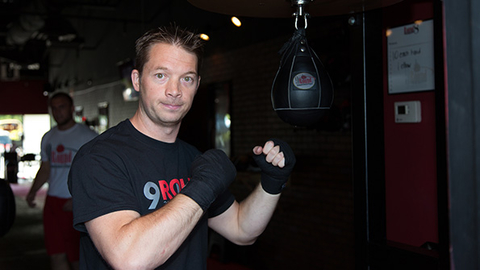 Shannon Hudson cofounder of 9Round plans to grow his franchised kickboxing business to more than 1000 locations by 2018 Photo courtesy 9Round